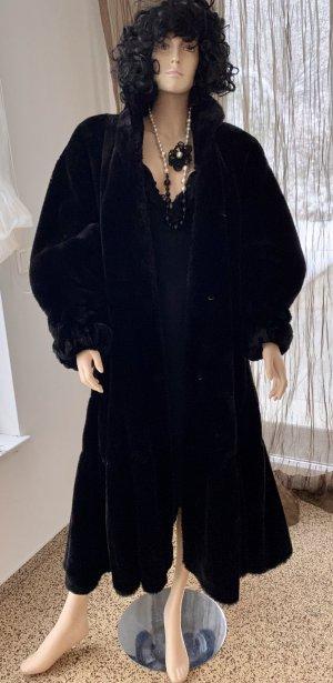 Weitschwingender Maxi Pelzmantel Fake Fur *COUTURE HELENE* Gr.38