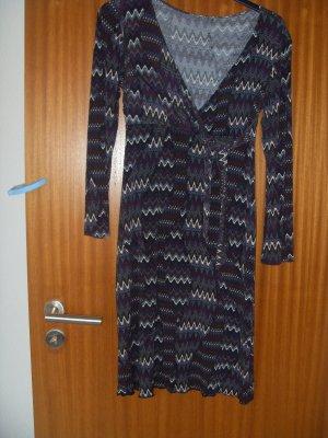 Wellenlinen Kleid in Bunt