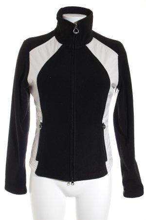 Wellensteyn Fleecejacke schwarz-weiß Colourblocking Casual-Look