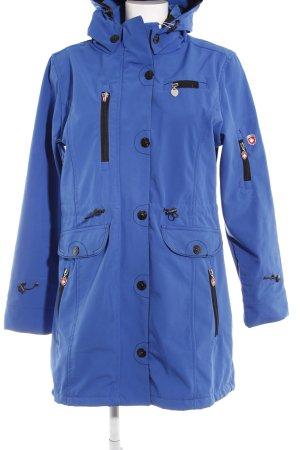 Wellensteyn Hooded Coat black-blue athletic style