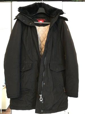 Wellensteyn Mantel Stavangar schwarz mit Kapuze S NP299€