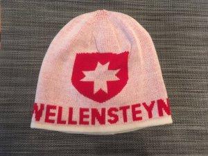 Wellensteyn Cappello in tessuto rosso-bianco sporco