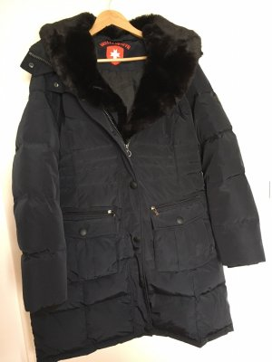 Wellensteyn Abrigo de plumón azul oscuro