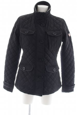 Wellensteyn Outdoor Jacket black weave pattern casual look