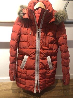 Wellensteyn Manteau à capuche blanc-rouge