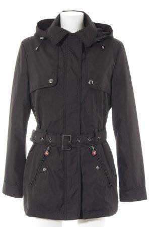 Wellensteyn Heavy Raincoat black-red casual look