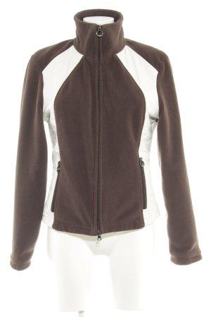 Wellensteyn Übergangsjacke dunkelbraun-creme schlichter Stil