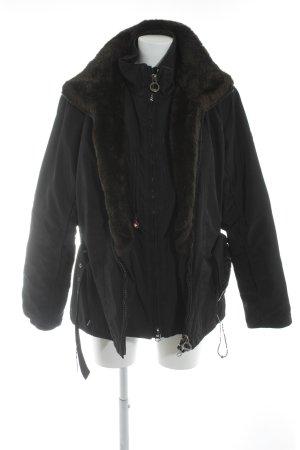Wellensteyn Winterjacke schwarz-dunkelbraun sportlicher Stil