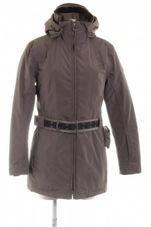 Wellensteyn Abrigo de invierno marrón estilo clásico
