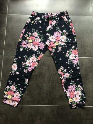 H&M Harem Pants dark blue-pink