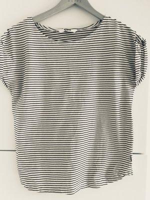 Wemoto Gestreept shirt wit-donkerblauw