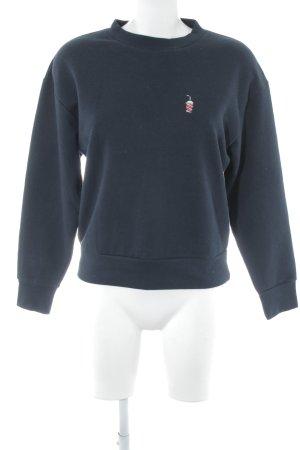 Wemoto Sweatshirt bleu foncé style décontracté