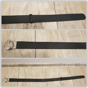 Gucci Leather Belt black-dark brown leather