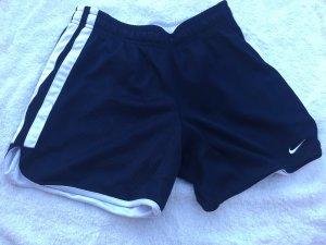 Nike Short de sport blanc-bleu foncé
