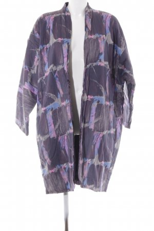 Reversible Jacket abstract pattern fluffy
