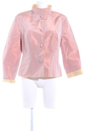 Giacca reversibile rosa antico-giallo pallido effetto bagnato