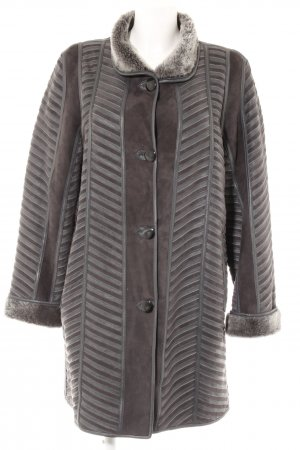 Reversible Jacket dark grey-grey striped pattern elegant
