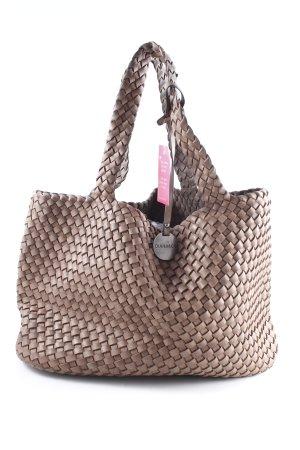 Turn Bag grey brown-bronze-colored vintage look