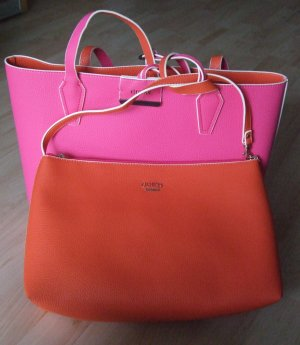 Guess Turn Bag magenta-neon orange imitation leather