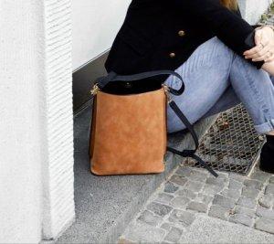 Wendetasche Tasche Beutel in grau und braun von Sassyclassy