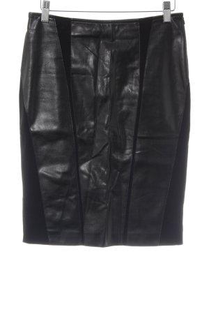 Wendy Stark Falda de cuero de imitación negro estilo fiesta