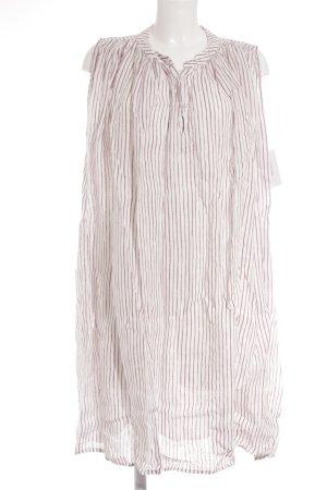 Wendy Trendy Kurzarmkleid dunkelrot-weiß Streifenmuster Beach-Look
