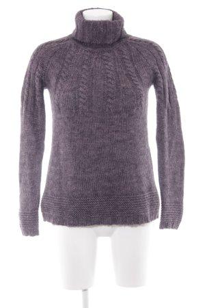 Wendy Trendy Jersey de cuello alto violeta grisáceo look casual