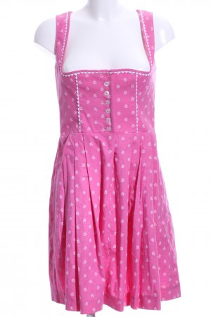 Wenger Austrian Style Dirndl rosa-weiß florales Muster Country-Look
