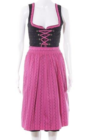 Wenger Austrian Style Dirndl schwarz-pink florales Muster klassischer Stil