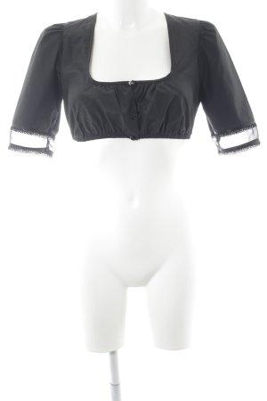 Wenger Folkloristische blouse zwart country stijl