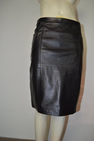 Werner Graumann Leather Skirt black leather