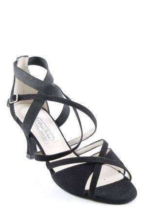 Werner Kern Strapped High-Heeled Sandals black elegant