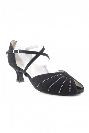 Werner Kern Strapped High-Heeled Sandals black spot pattern '20s style