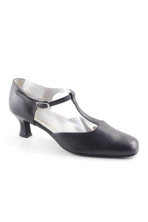 Werner Kern Zapatos de tacón con barra en T negro estilo «business»