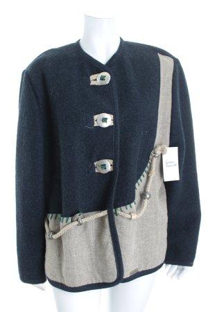 Wesenjak Veste bavaroise bleu foncé-gris clair style décontracté