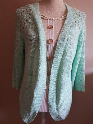 Only Gilet tricoté vert menthe