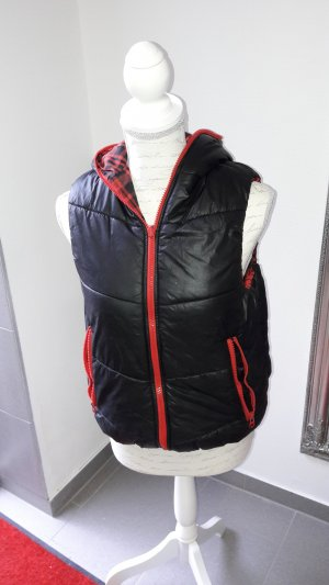 & other stories Hooded Vest black-red