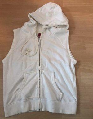 H&M Divided Chaleco con capucha blanco