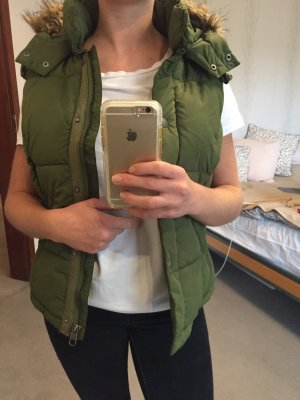 H&M Hooded Vest forest green