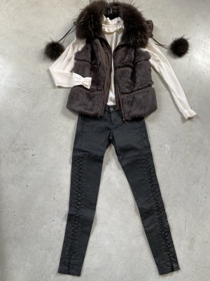 Funk Fur vest dark brown