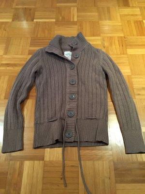 H&M Gilet long tricoté marron clair