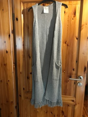 s.Oliver Long Knitted Vest light grey-silver-colored