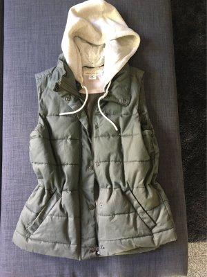 H&M L.O.G.G. Capuchon vest khaki-licht beige