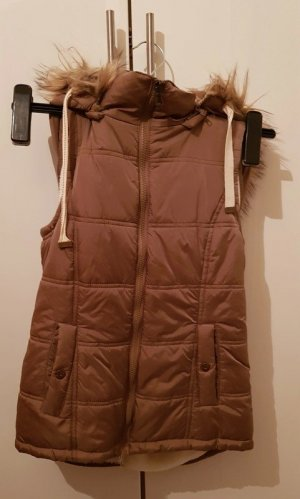 mister*lady Hooded Vest brown