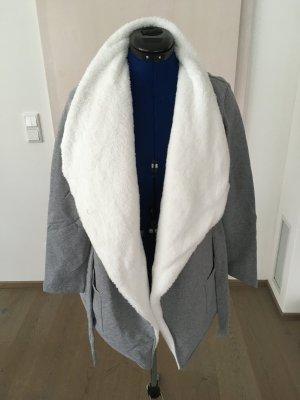 Tchibo / TCM Gebreid vest zilver-wit