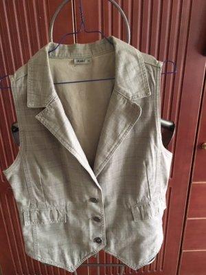 Biker Vest beige-brown cotton