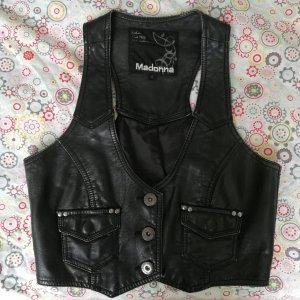 Madonna Leather Vest black imitation leather