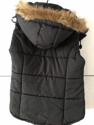 FlashLights Fur vest black