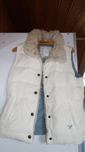 American Eagle Outfitters Quilted Gilet white-azure nylon