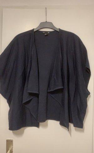 H&M Gebreid jack met korte mouwen donkerblauw